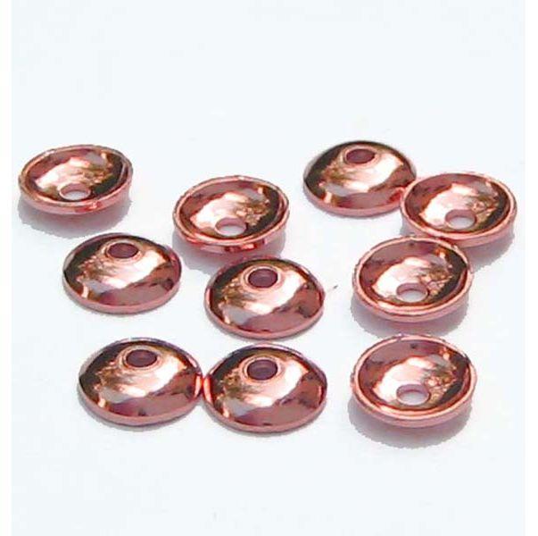 Halblinsen rund rose 925 Silber