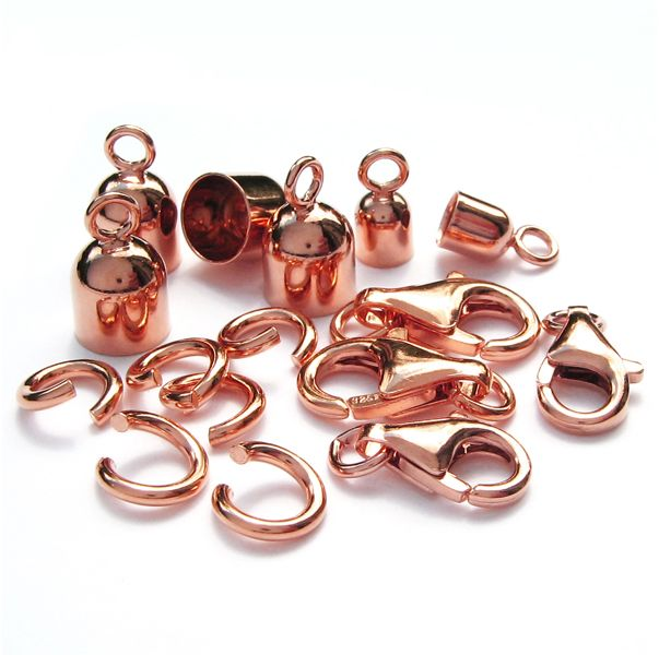 components 925 Silver rose gold plated