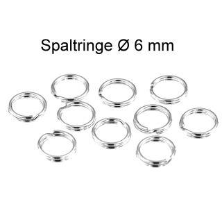 10 Stück Spaltringe Ø 6 mm 925 Silber