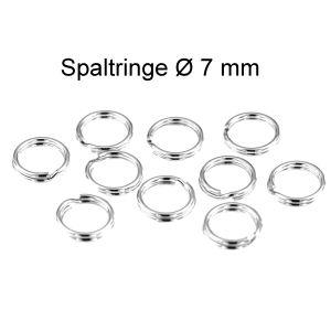 10 Stück Spaltringe Ø 7 mm 925 Silber