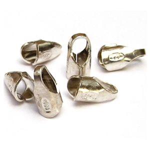 10 Stück Endkappen Ø 2,0 mm 925 Silber