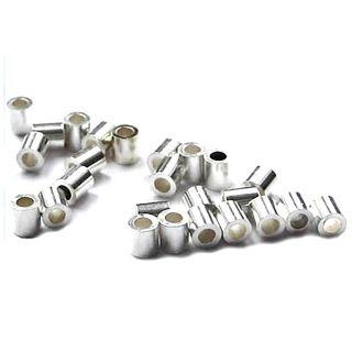 50 Stück Quetschröhrchen 2,0 mm innen Ø 925 Silber