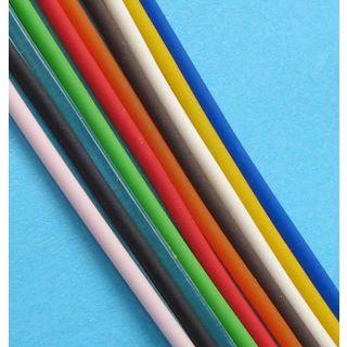 Kautschukband Kautschuk rund Ø 2 mm 10 Farben