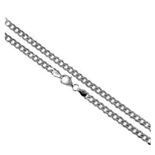 Panzerkette Silberkette 4,3 mm / 1,5 mm 40 cm bis 90 cm 925 Silber