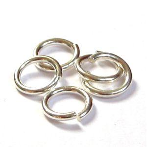 10 Stück Biegeringe 925 Silber Ø 2,8 mm