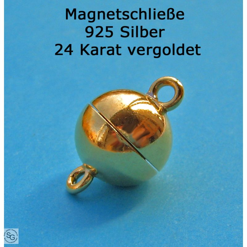 Magnetverschluß Kettenverschluss Magnetschließe. 8mm 925er Silber