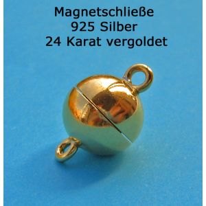 Magnetverschluss 925 Silber vergoldet