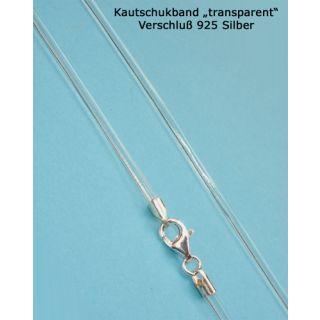 Kautschukkette Kautschukband transparent 925 Silber