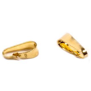 Kettenschlaufe XL vergoldet 925 Silber