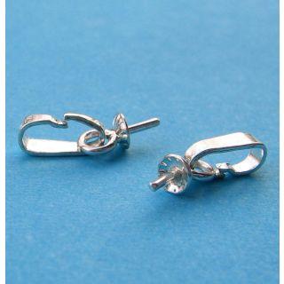 Kettenschlaufe mit Perlschale 3 mm 925 Silber