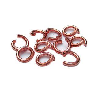 Biegeringe 10 St. 925 Silber rosegold Ø 5 mm