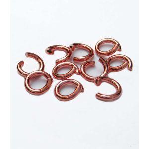 Biegeringe 10 St. 925 Silber rosegold Ø 6,7 mm