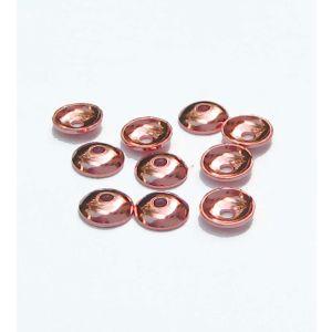 Halblinsen rosegold 10 St  Ø 4 mm 925 Silber