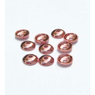 Halblinsen rosegold 10 St  Ø 6 mm 925 Silber