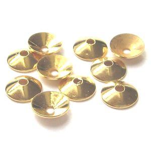 Halblinsen vergoldet 10 St  Ø 6 mm 925 Silber