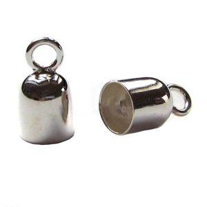 1 Paar Endkappen 925 Silber Ø 3 mm innen