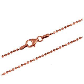 Kette Kugelkette rosegold 925 Silber