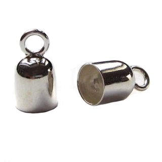 1 Paar Endkappen 925 Silber Ø 6,00 mm innen