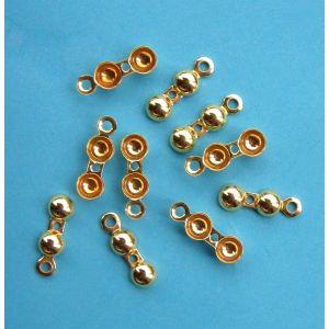 10x Klappkapseln Ring & Fadenloch Ø 4 mm 925...