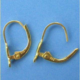 1 Paar Klappbrisuren vergoldet