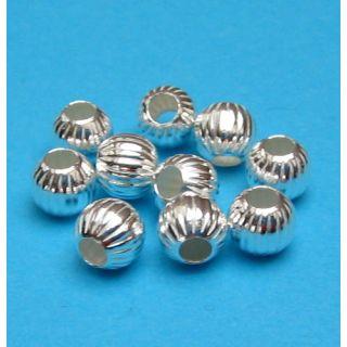 Grosshandel 500 Stück Kugel gerillt Ø 4 mm 925 Silber