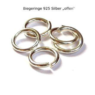 1000 Stück Biegeringe offen Ø 3,3 mm 925 Silber