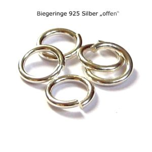 1000 Stück Biegeringe offen Ø 3,7 mm 925 Silber