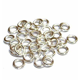 300 Stück Binderinge geschlossen Ø 6 mm 925 Silber