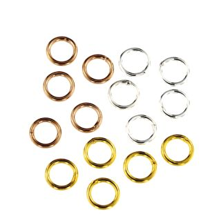 Binderinge 6,0 mm 10 Stück 925 Silber, vergoldet, rose- vergoldet, rhodiniert