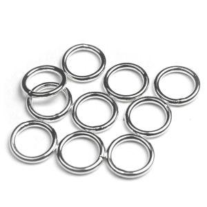 Binderinge 10 mm 10 Stück 925 Silber