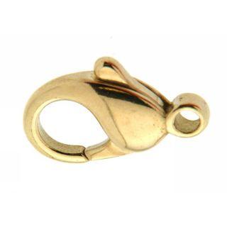 Gold 14 Karat Karabinerhaken 16 mm 585 Gelbgold