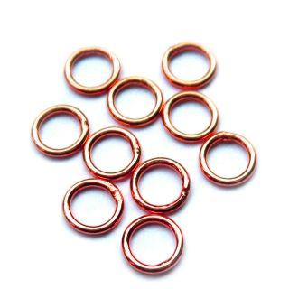 Binderinge 8 mm rose vergoldet 925 Silber 10 Stück