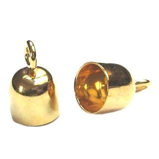 Gold Endkappen 9 Karat  / 14 Karat Ø 2,4 mm 2 Stück