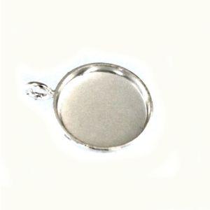 Anhänger Edelstein Fassung Capuchon 6  mm 925 Silber