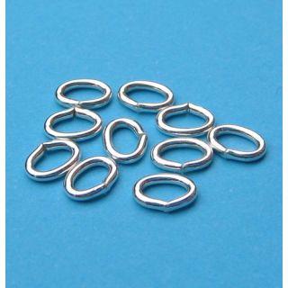 10 Stück Biegering oval 6,0 x 4,4 mm 925 Silber