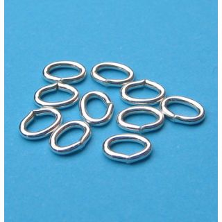 10 Stück Biegering oval 7,0 x 5,0 mm