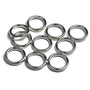 Binderinge 4,5 mm 925 Silber 10 Stück Silber, vergoldet, rhodiniert