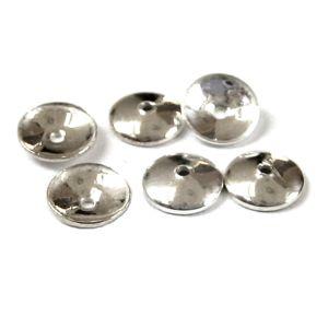 10 Stück Halblinsen rund Ø 8 mm 925 Silber