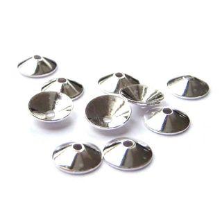 10 Stück Halblinsen spitz Ø 4 mm 925 silber