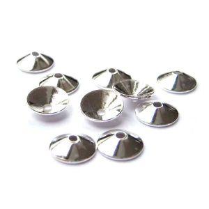 10 Stück Halblinsen spitz Ø 8 mm 925 silber